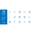 15 form icons vector image vector image