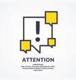 a warning sign and icon informational poster for vector image