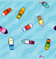 aerial view boats seamless pattern vector image vector image