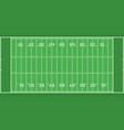 american football field from top view flat design vector image