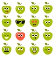 apple smiley faces vector image vector image