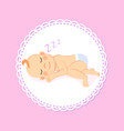 bashower greeting card newborn lying on side vector image vector image
