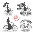 bicycle emblem vector image vector image