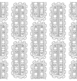 Black and white decorative seamless pattern for vector image vector image