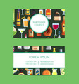 business card template for bar vector image vector image