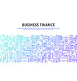 business finance web concept vector image vector image