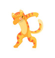 cat standing in dub dancing pose cute cartoon vector image vector image