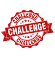 challenge stamp sign seal vector image vector image