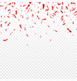 christmas valentines day red confetti on vector image vector image