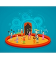 circus performers at arena vector image vector image