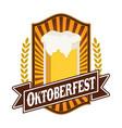 classic oktoberfest festival emblem badge design vector image vector image