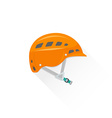 color alpinism equipment helmet icon vector image vector image