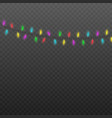 colorful light bulb garland hanging realistic vector image vector image