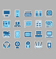 computer patch sticker icons set vector image vector image