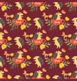 cute porcupine seamless pattern vector image vector image
