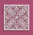 cutout paper panel with lace pattern vector image vector image