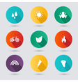 Design style nature icons set vector image
