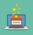 donate money with box vector image vector image