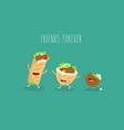 falafel pita donner funny cute image vector image