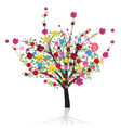 flower tree vector image vector image