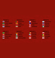 football world cup groups vector image vector image
