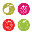 fruit pictograms vector image
