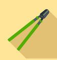 garden long scissors icon flat style vector image vector image