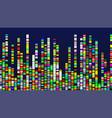 Genome design multicolor data visualization