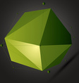 Geometric bright polygonal structure with lines vector image