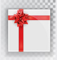 gift box white christmas gift boxes isolated on a vector image vector image