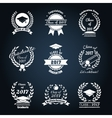 Graduation class badges vector image