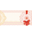 Guilloche Background for Gift Certificate with Red vector image vector image