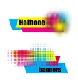 Halftone banners vector image