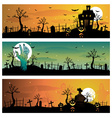 halloween banners vector image vector image