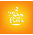 Happy Easter Orange Card vector image vector image