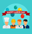 happy labor day holiday background flat style vector image