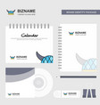 helmet logo calendar template cd cover diary and vector image vector image