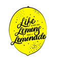 If life gives you lemons make lemonade hand vector image vector image