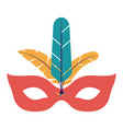 isolated mask with feather of celebration design vector image vector image