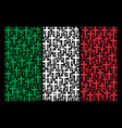 italian flag mosaic of religious cross icons vector image vector image