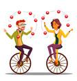 juggling people business man woman vector image vector image