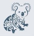 koala ornament vector image vector image