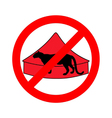 Leopard in circus prohibited vector image vector image
