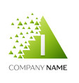 letter i logo symbol in colorful triangle vector image vector image