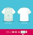 Modern soft color t-shirt design vector image