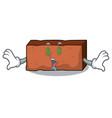 money eye brick mascot cartoon style vector image