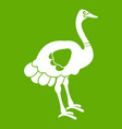 ostrich icon green vector image