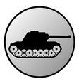 Panzer button vector image vector image