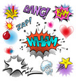 pop art comic modern speech bubble set vector image vector image