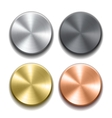 Realistic metal buttons vector image vector image